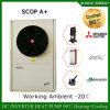 O medidor 12kw/19kw/35kw do aquecimento de assoalho 100~300sq da casa do inverno da tecnologia -25c de Evi Auto-Degela calefator de água rachado da bomba de calor do inversor da bobina