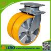 Hochleistungsfußrollen-Polyurethan-Aluminiumkern-Zwilling-Rad