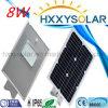 8W integriertes Solarlicht der straßen-LED für im Freien