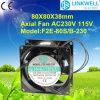 Roulement à billes axiaux électrique de ventilateur de refroidissement (F2E-80S/B-230)