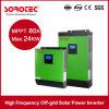inversor puro de la potencia de onda de seno de la CA de la C.C. de 2kVA 24VDC con el cargador solar de 50A PWM