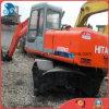 Giappone-Fare 0.6cbm/16ton Idraulico-Trasformano l'escavatore utilizzato della gomma della Hitachi Ex160wd del Isuzu-Motore 6cylinders