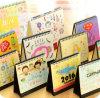 Calendarios mensuales de la historieta del escritorio de lujo de la impresión