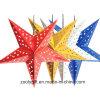 Láser Tarjeta de papel colgante Estrella fiesta Decoración para el hogar / Hang Paper Navidad Holiday Star Linternas