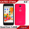 Populares de 4.5 pulgadas con 480*854 Clear LCD de alta resolución Full-View CT450 Smart Phone