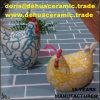 dB1090 Ostern keramische Huhn Chook Coq Henne-Hahn-Küken-Statue-Figürchen