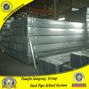 Sección hueca Galvanzied plaza de tubería de tubería de acero