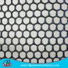 黒いカラープラスチック金網の塀