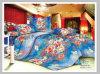 La reina polivinílica impresa ajustó el conjunto del lecho del remiendo de la colcha