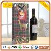 Rotwild-roter quadratisches Gitter-Wein-Beutel, Geschenk-Papierbeutel, Wein-Beutel