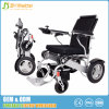 Cadeira de rodas elétrica de alumínio de pouco peso de dobramento com liga de alumínio