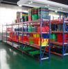 Panier à provisions en plastique de roulement de traitement de supermarché de constructeur