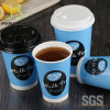8oz 10oz 12oz 16oz Kaffee-Papiercup mit PS-Kappe und Hülse
