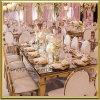 Het gouden Meubilair van het Huwelijk van de Stijl van het Roestvrij staal Europese die voor Modern Restaurant wordt gebruikt