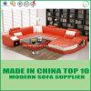 Sofà di cuoio italiano/Sectionals della mobilia di legno nordica
