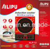 2200W Fogão de indução com LED azul e modelo de voz ALP-12