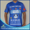 T-shirt sport personnalisé à la sublimation personnalisée avec tissu rapide et sec