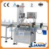 O enchimento do vaso de sabão líquido e máquina de nivelamento