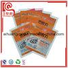 Bolso plano plástico modificado para requisitos particulares del sello de la cara de la insignia para el alimento cocido