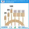 1m goldenes Blitz-Kabel für iPhone