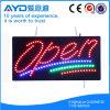 Muestra abierta de la protección del medio ambiente LED del rectángulo de Hidly