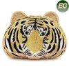 Artificial Rhinestone Animal Diseño Bolso De La Noche Tiger Head Bolsas De Cristal Leb738