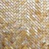 Mattonelle di mosaico madreperlacee di Marbke di vendita dell'orlo delle coperture bianche calde del Mop per la parete della decorazione