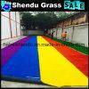 Grama sintética do jardim de infância do arco-íris com material Anti-UV