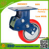 150mm PU Wheels Shock Absorption Fixed Caster