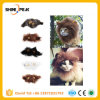 Venta caliente perro Gato como mascota traje de vestir de emulación de peluca melena de pelo de León oídos cabeza hueca Otoño Invierno Bufanda Silenciador Productos PET
