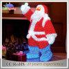 Lumière acrylique de motif du père noël de Noël extérieur de la décoration 3D DEL