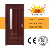 Portas de madeira interiores luxuosas de vidro do projeto moderno (SC-P061)
