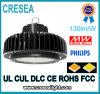 La Cina fabbrica baia glassata rotonda bianca del LED nell'alta, 100W alto indicatore luminoso IP65 della baia del UFO LED