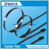 201 PVC Coated Ball Locking Aço inoxidável Laços de cabo