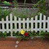Langer Wood Garten Fence mit White Color