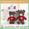 Urso enchido da camisola do presente do dia do Valentim luxuoso macio