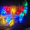 Вал выходит светов шнура рождества освещаемый батареей Fairy для украшений гирлянды свадебного банкета напольных домашних