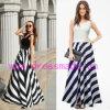 Платье Striped безрукавный круглого ворота длиннее с высоким качеством