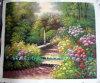 Peinture à l'huile, Peinture à l'huile de paysage de jardin, Peinture à l'huile de toile