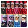 10の様式のクリスマスのエルフの人形のプラシ天は子供の休日のクリスマスのギフトのための棚のエルフXmasの人形そして柔らかい背部本をもてあそぶ
