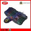 &Mouse клавиатуры разыгрыша Backlight радуги связанное проволокой USB комбинированное