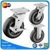 トロリーのためにセットされる6インチPUの車輪の足車