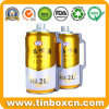 식품 포장을%s 2L 금속 양철 깡통 맥주통