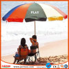Großer Fabrikdirekt Sun-Strand-Regenschirm mit Drucken