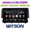 Witson 9  Grote Androïde 6.0 Auto van het Scherm DVD voor Honda Civic (1.0T laag) 2016