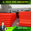 La protección del cable Placitc eléctrico tubo mpp para la protección del cable subterráneo