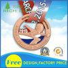 Médaille en alliage de zinc faite sur commande reçue en métal de sport de souvenir pour la vente en gros