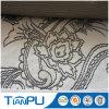 Nueva tela 100% del telar jacquar de la flor del poliester del diseño del modelo