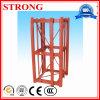 Standardmodell-Mast-Kapitel des Turmkrans und der Aufbau-Hebevorrichtung