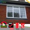 Conception de grille de fenêtre à charnière UPVC sans plomb pour la maison